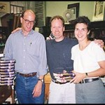 The Author with Lynn Roberts and Richard Howorth at Square Books, Oxford